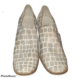 Aquatalia Animal Print Leather Shoes